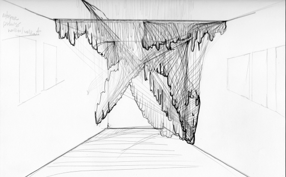 Victoria Greising, Mock-up sketch of site specific installation